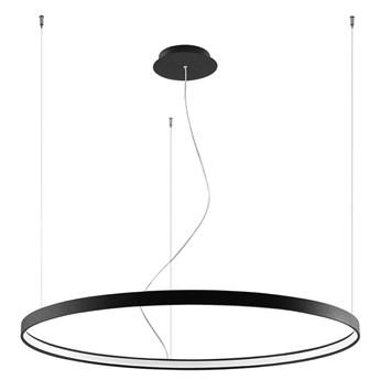 Czarna lampa wisząca LED ring - EXX230-Riwas