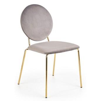 Krzesło typu ludwik w stylu glamour Intel - popiel