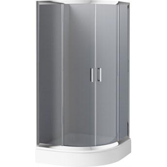 Deante Funkia kabina prysznicowa półokrągła 90 cm chrom/szkło grafitowe KYP 451K