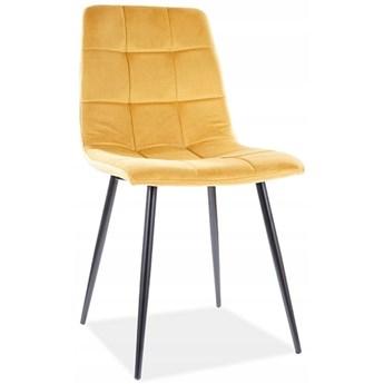 Krzesło Tapicerowane MILA Loft Curry Welur do Jadalni