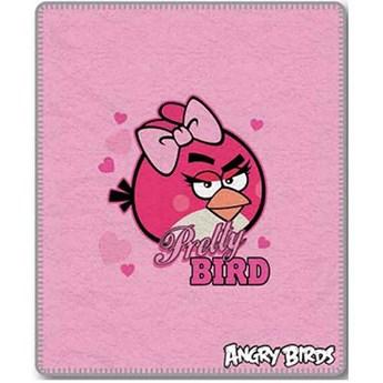 Kocyk dziecięcy 120x150 Angry Birds kolor różowy, Halantex