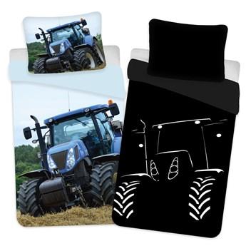 Pościel bawełniana 140x200 Traktor świeci w ciemności, Jerry Fabrics