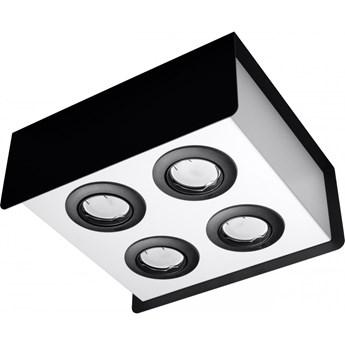 Oprawa natynkowa STEREO 4 czarna/biała SL.0412 SOLLUX SL.0412 | SPRAWDŹ RABAT W KOSZYKU !