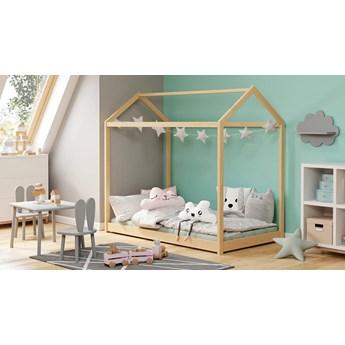 Dziecięce sosnowe łóżko domek 165x88 - Melody