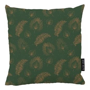 Zielona bawełniana poduszka dekoracyjna Butter Kings Boho Leaves, 50x50 cm