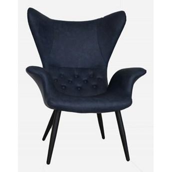 Fotel skórzany Elen Nave blue