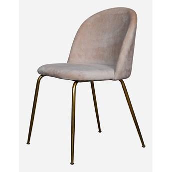 Krzesło Lucca Pudrowy róż + złote nogi