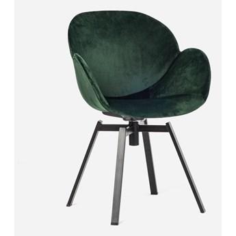 Stylowe Krzesło Obrotowe Marin Zielona Butelka