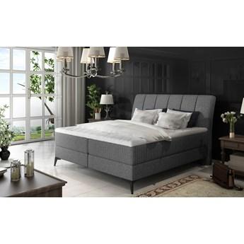 Łóżko Aderito Ciemno szary 143cm