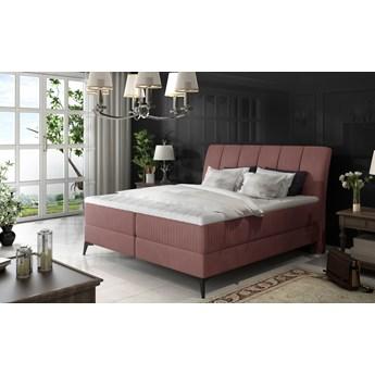 Łóżko Aderito Pudrowy róż 143cm