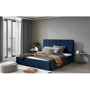 Łóżko Audrey Granatowy 160cm