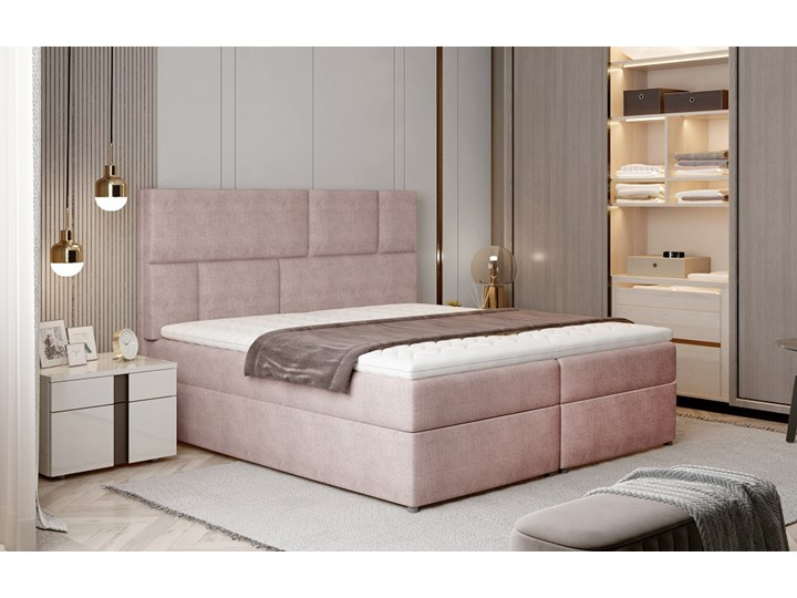 Łóżko Florence Pudrowy róż 145cm