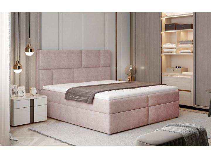 Łóżko Florence Pudrowy róż 145cm Kolor Różowy Łóżko tapicerowane Kategoria Łóżka do sypialni
