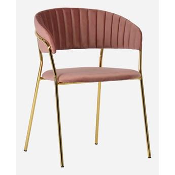 Stylowe Krzesło Gama Pudrowy róż