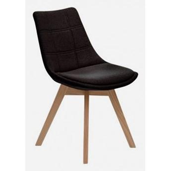 Stylowe Krzesło Aron tapicerowane Czarny