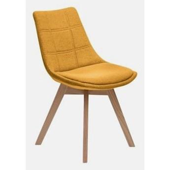 Stylowe Krzesło Aron tapicerowane Pomarańczowy