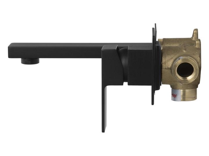 Bateria umywalkowa podtynkowa Corsan CMB3024BL czarna z wylewką Kolor Czarny Bateria ścienna Kolor Srebrny