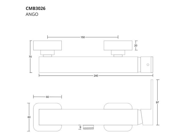 Bateria prysznicowa Corsan CMB3026BL Kolor Czarny Kategoria Baterie łazienkowe