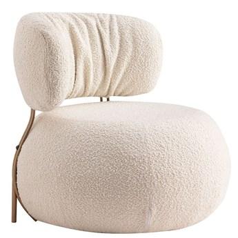 Designerski fotel bez podłokietników Teddy Low