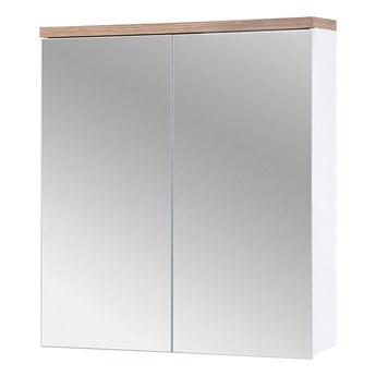 Bettso Szafka łazienkowa z lustrem 60 Bali White 2D / biel alpejska + dąb wotan