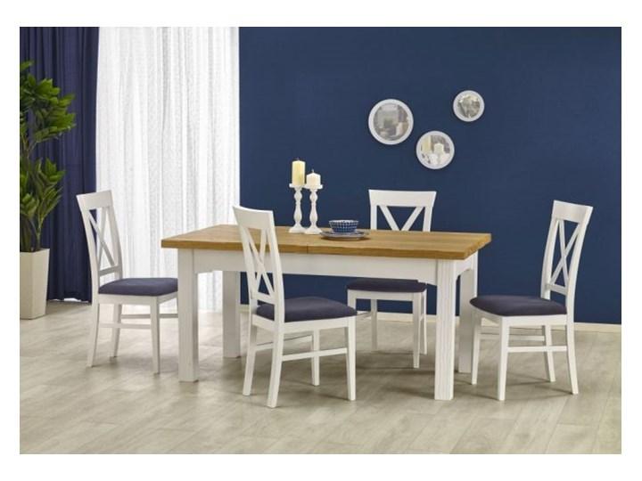 Krzesło BERGAMO białe HALMAR Drewno Tapicerowane Tkanina Kolor