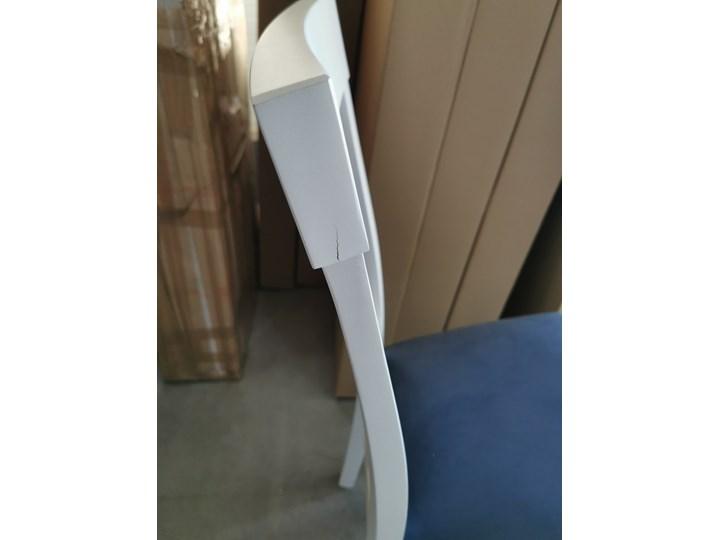 Krzesło BERGAMO białe HALMAR Tkanina Drewno Tapicerowane Styl Skandynawski