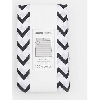 Sinsay - Komplet pościeli z bawełny 160x200 - Biały