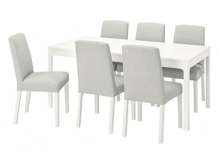 IKEA EKEDALEN / BERGMUND Stół i 6 krzeseł, biały/Orrsta jasnoszary/biały, 180/240 cm