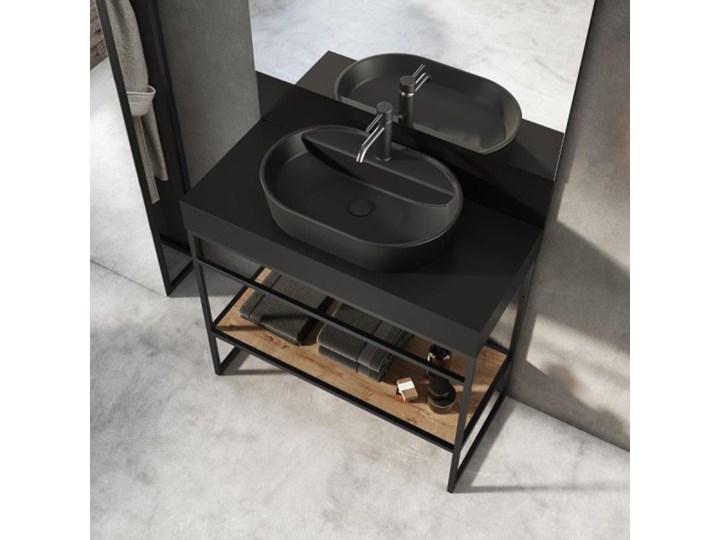 Elita Meble Babette Black Matt umywalka nablatowa 61,2x41,2 cm 145101 Kolor Czarny Owalne Szerokość 62 cm Nablatowe Ceramika Kategoria Umywalki