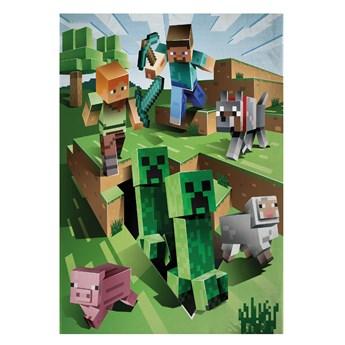 Kocyk dziecięcy 130x170 Minecraft, Halantex