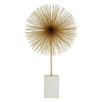 Figurka w złoto-białym kolorze z marmurową podstawką Premier Housewares Mirano Starburst