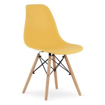 Krzesło Enzo Dsw Paris bukowe nogi żółte