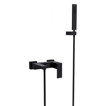 Zestaw wannowo-prysznicowy Varium/Modern, ścienny, czarny matt