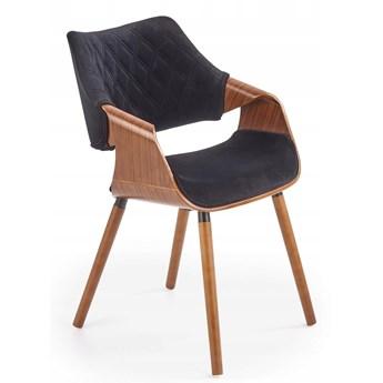 Krzesło K396 Czarny Orzech Loft do Jadalni