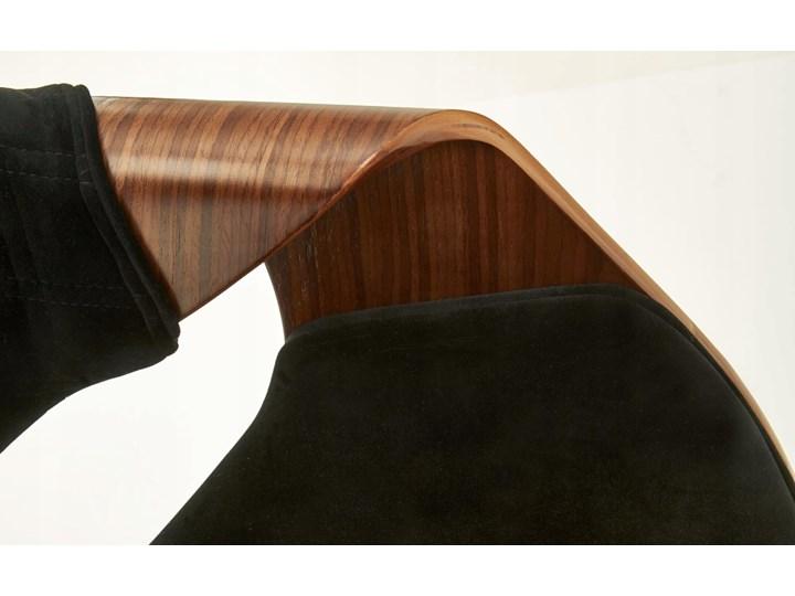 Krzesło K396 Czarny Orzech Loft do Jadalni Wysokość 77 cm Tapicerowane Welur Drewno Szerokość 56 cm Tkanina Krzesło inspirowane Pikowane Głębokość 55 cm Styl Klasyczny