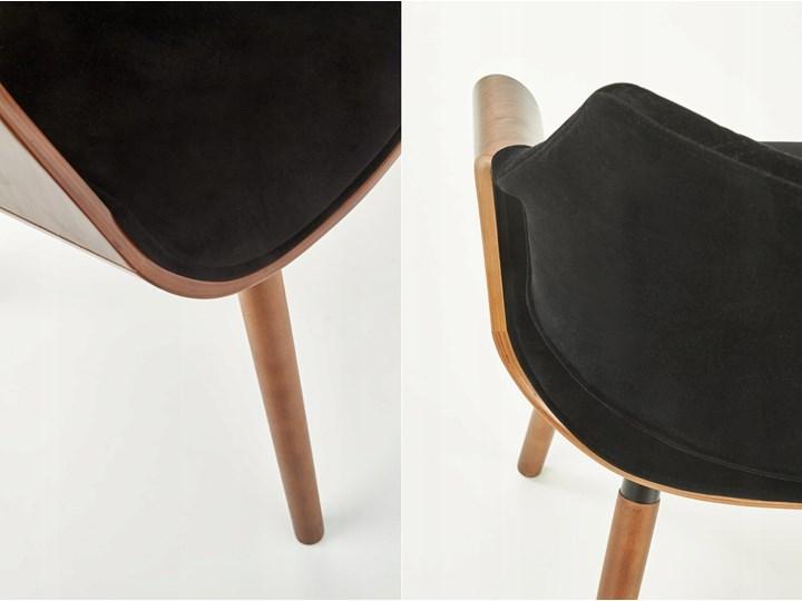 Krzesło K396 Czarny Orzech Loft do Jadalni Głębokość 55 cm Krzesło inspirowane Tkanina Wysokość 77 cm Szerokość 56 cm Drewno Welur Tapicerowane Kategoria Krzesła kuchenne Pikowane Styl Glamour