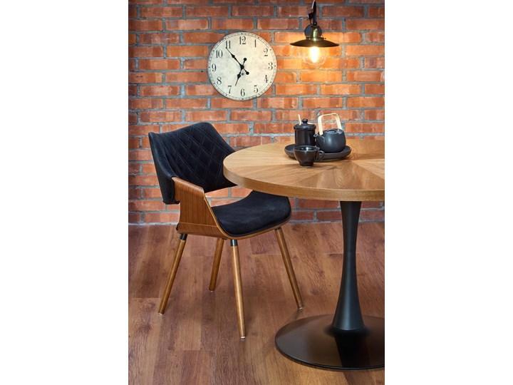 Krzesło K396 Czarny Orzech Loft do Jadalni Pikowane Tapicerowane Krzesło inspirowane Głębokość 55 cm Welur Drewno Wysokość 77 cm Szerokość 56 cm Tkanina Styl Glamour Styl Industrialny
