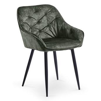 Krzesło K418 VELVET ciemno zielone HALMAR