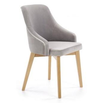 Krzesło TOLEDO 2 szare/dąb miodowy HALMAR