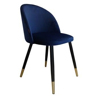 Krzesło CLAUDINE 1 VELVET GOLD granatowe ATOS