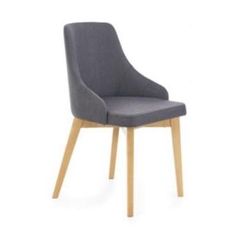 Krzesło TOLEDO grafitowe/dąb miodowy HALMAR