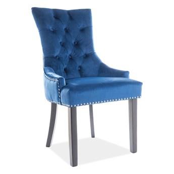 Krzesło EDWARD VELVET granatowe SIGNAL
