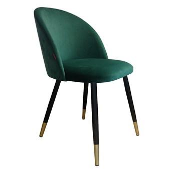 Krzesło CLAUDINE 1 VELVET GOLD zielone ATOS
