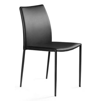Krzesło DESIGN czarne ekoskóra UNIQUE