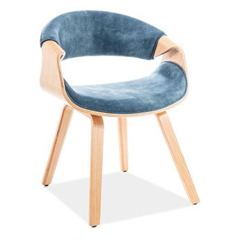 Krzesło DAKOTA VELVET morskie SIGNAL