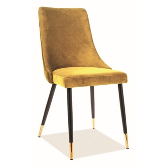 Krzesło PIANO VELVET curry SIGNAL