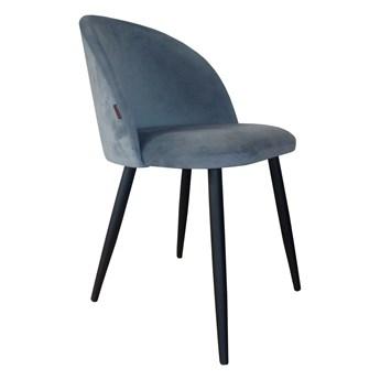 Krzesło CLAUDINE 1 BL VELVET szare ATOS