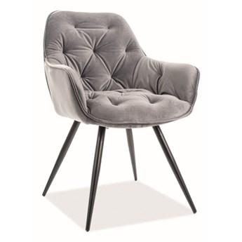 Krzesło CHERRY VELVET szare SIGNAL