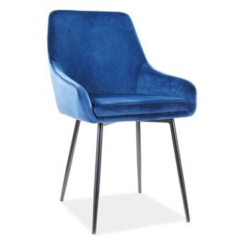 Krzesło ALBI VELVET granatowe SIGNAL