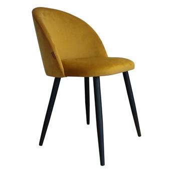 Krzesło CLAUDINE 1 VELVET żółte ATOS